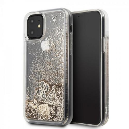 Оригинален калъф GUESS за Apple iPhone 11 Gold - 1