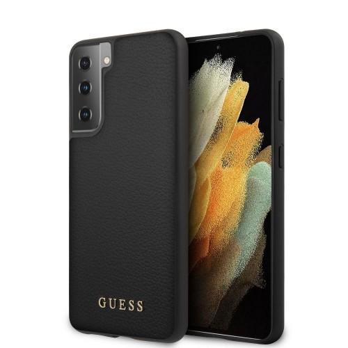 Оригинален калъф GUESS за Samsung G991 Galaxy S21 Черен
