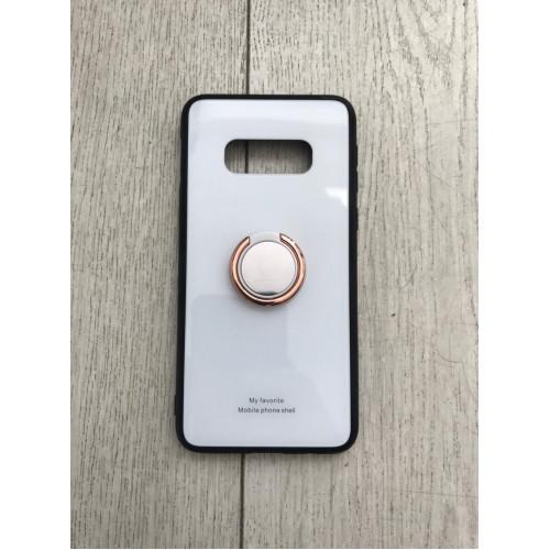 Калъф Glass Case за Samsung G973 Galaxy S10 Бял
