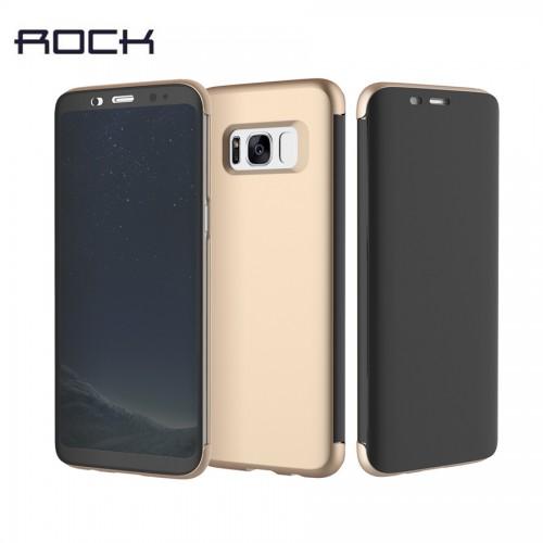 Flip калъф ROCK DR.V за Samsung G960 Galaxy S9 Златен