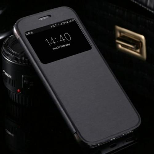 Flip калъф S-View за Motorola Moto C Черен