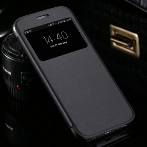 Flip калъф S-View за Samsung Galaxy J6 2018 Черен