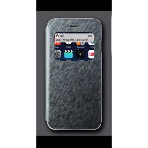 Flip калъф UFO за Samsung G925 Galaxy S6 Edge Графит