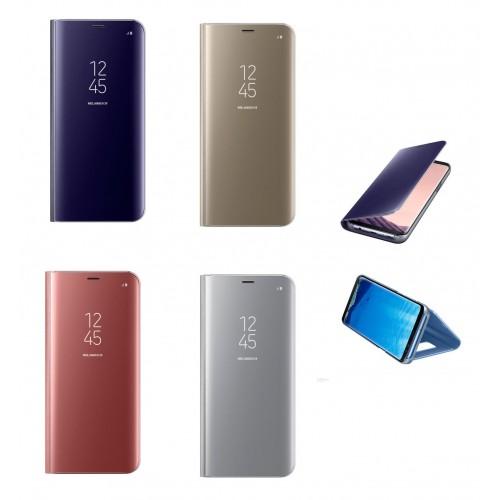 Flip калъф Clear View за Samsung J730 Galaxy J7 2017 Златен