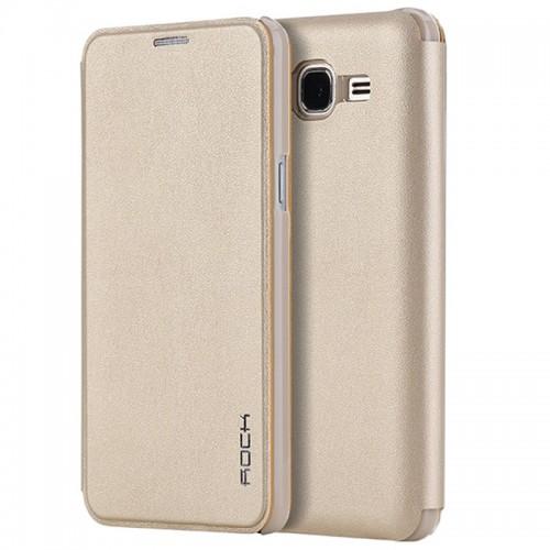 Flip калъф Rock Touch за Samsung A800 Galaxy A8 Златен